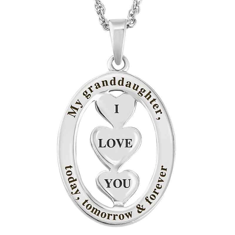 Granddaughter I Love You Diamond Pendant 1887 001 4 3