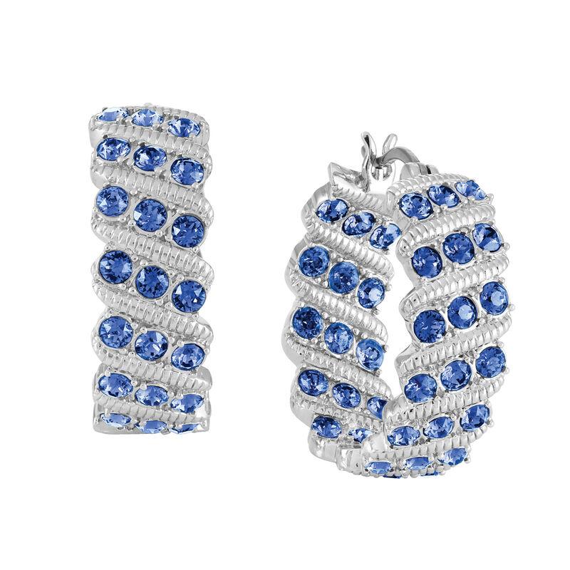 Birthstone Hoop Earrings 6003 0020 i september