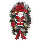 Christmas Santa Teardrop Wreath 2379 0033 a main