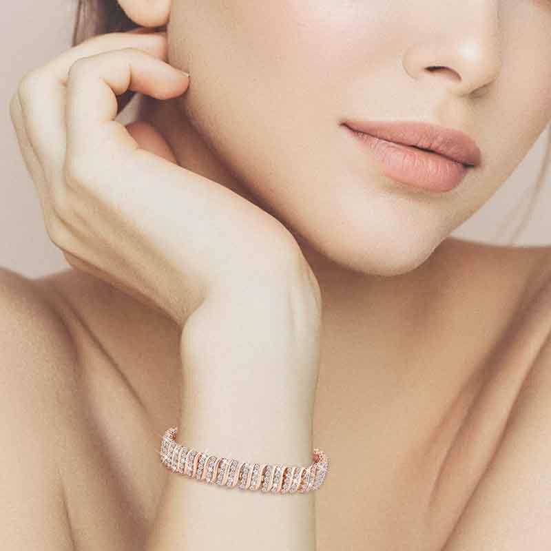 Captivating in Copper Simulated Diamond Bracelet 6576 001 9 5