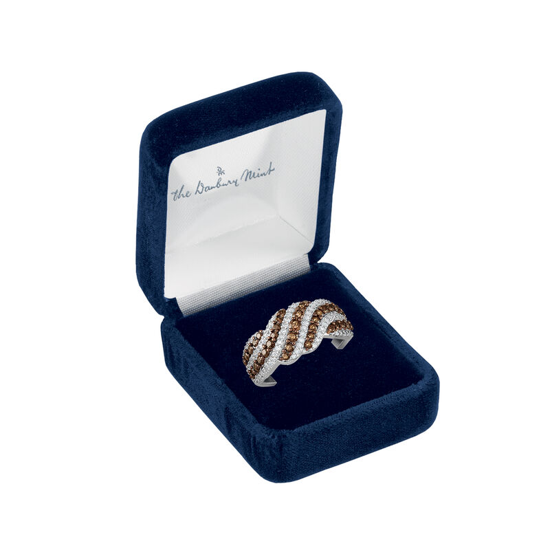 Mocha Wave Sterling Silver Ring 6786 0015 g display box