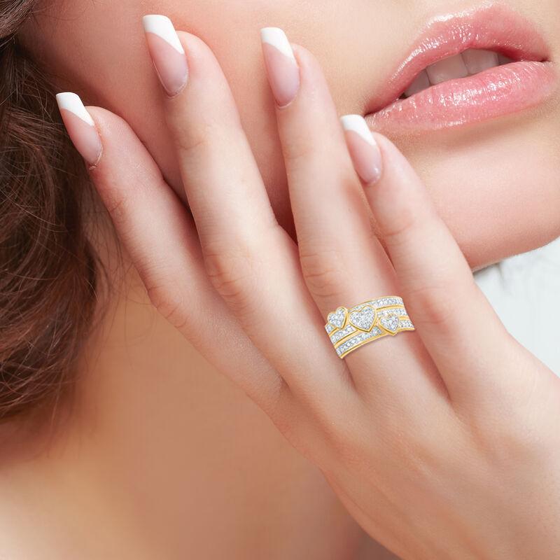 Love Everlasting Personalized Diamond Ring Set 10073 0019 m model