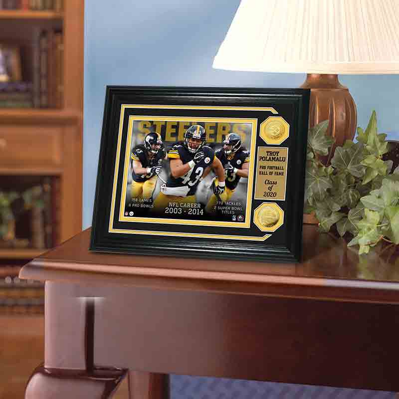Troy Polamalu Hall of Fame Photo Collage 4391 157 7 2