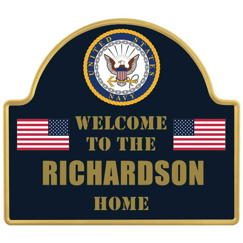 The Personalized US Military Welcome Sign 6099 001 7 4