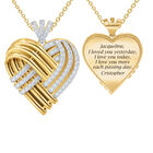 Woven Together Anniversary Heart Pendant 10134 0032 a main