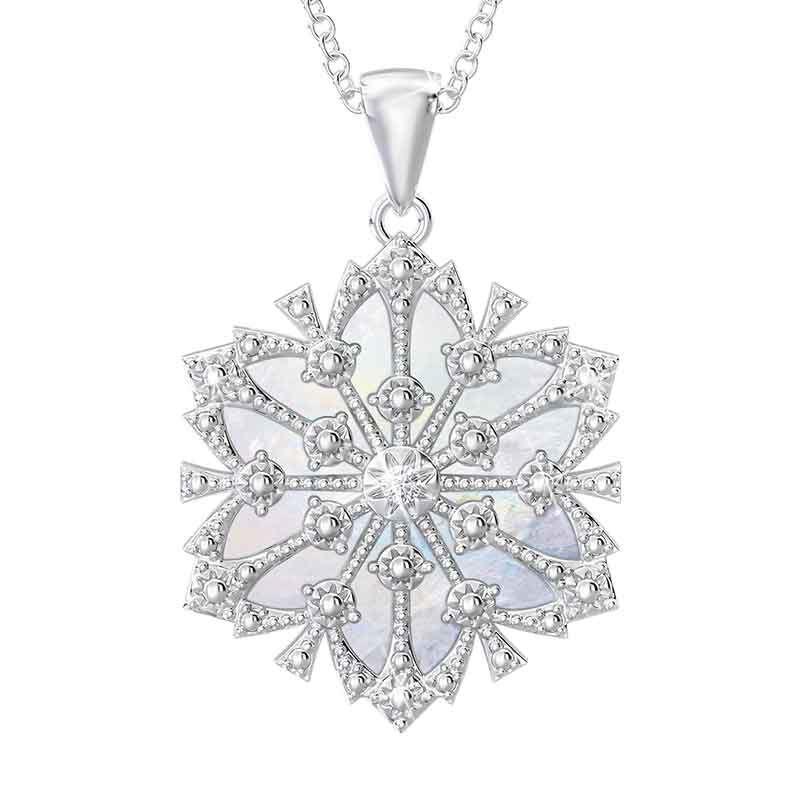 Granddaughter Diamond Snowflake Pendant 1069 001 4 1