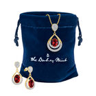Birthstone Necklace Earring Set 6930 0010 m gift pouch
