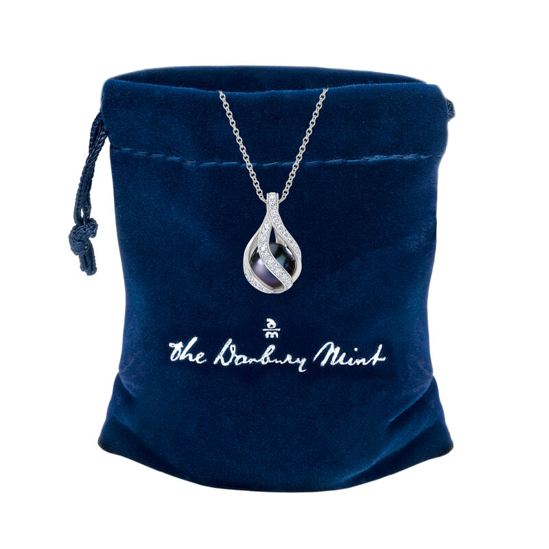 Loves Embrace Pearl Diamond Necklace 10125 0017 g gift pouch