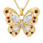 The Birthstone Butterfly Diamond Pendant 2030 001 8 7