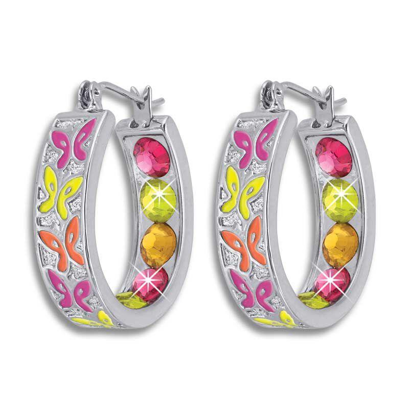 Crystal Celebrations Hoop Earrings 4608 002 4 11