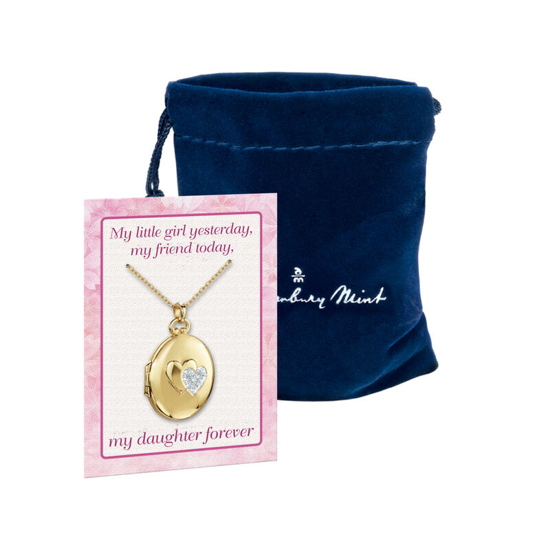 My Daughter Forever Diamond Locket 10216 0025 g gift pouch