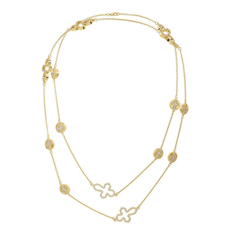 Dazzling Faith Long Cross Necklace 10178 0013 b necklace
