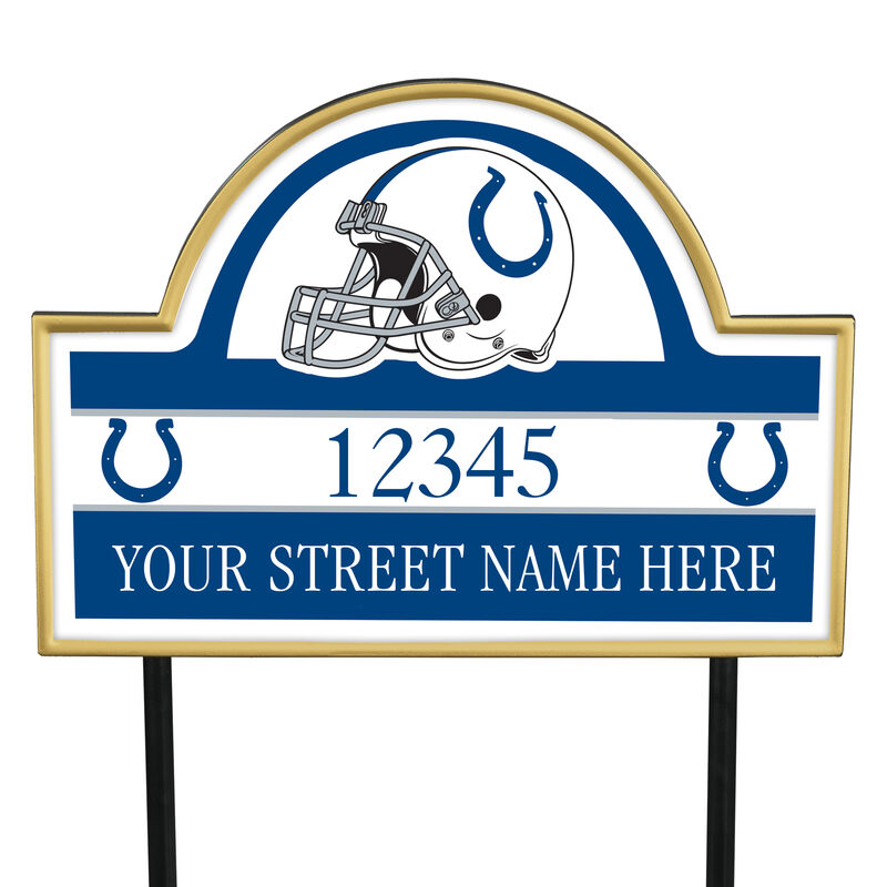 NFL Pride Personalized Address Plaques 5463 0405 a colts