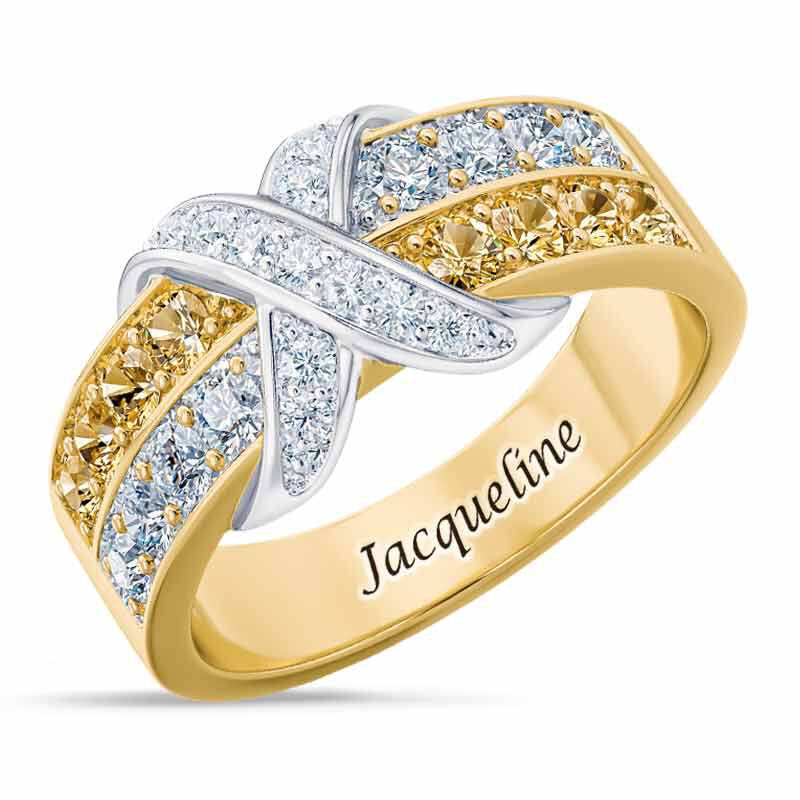 Birthstone Beauty Diamond Kiss Ring 6503 001 7 11