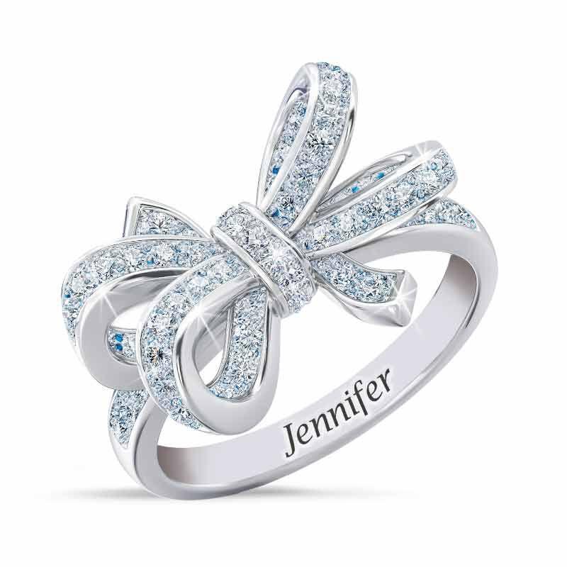 Birthstone  Diamond Bow Ring 1876 001 7 4