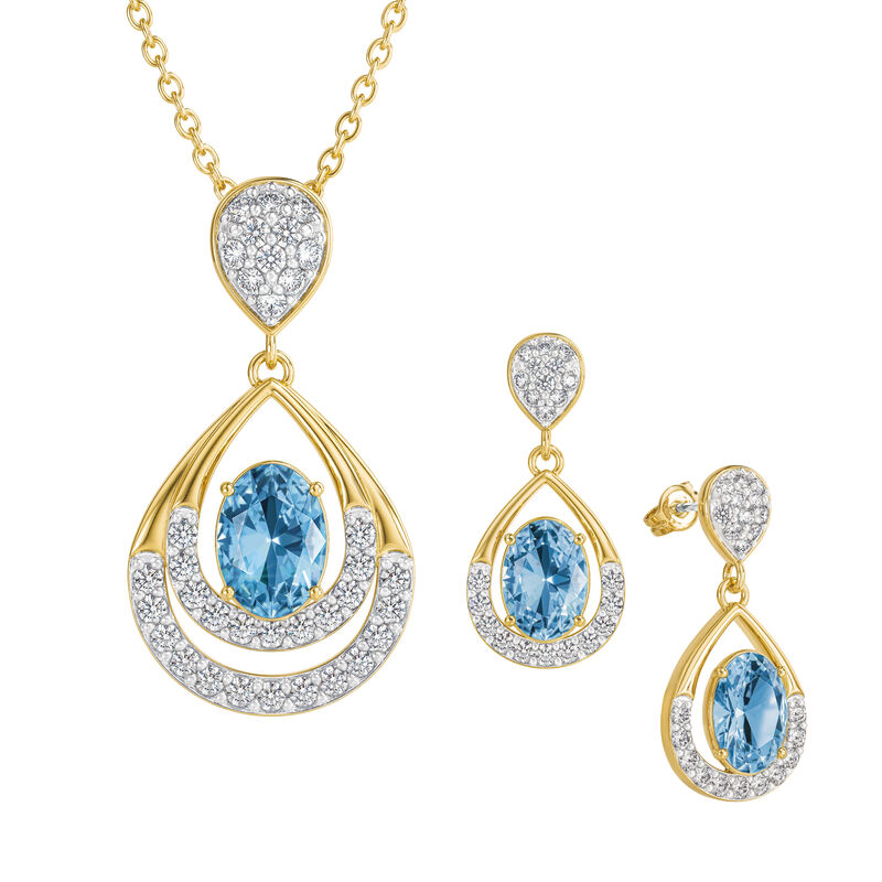 Birthstone Necklace Earring Set 6930 0010 l december