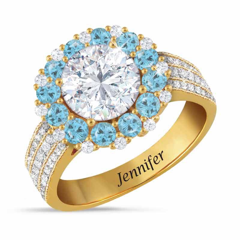 Birthstone Beauty Diamonisse Halo Ring 4924 001 3 3