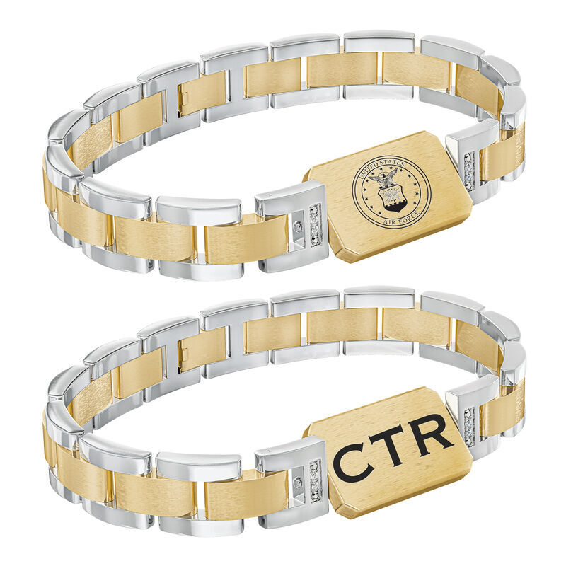 Personalized Air Force Bracelet 6449 005 5 3