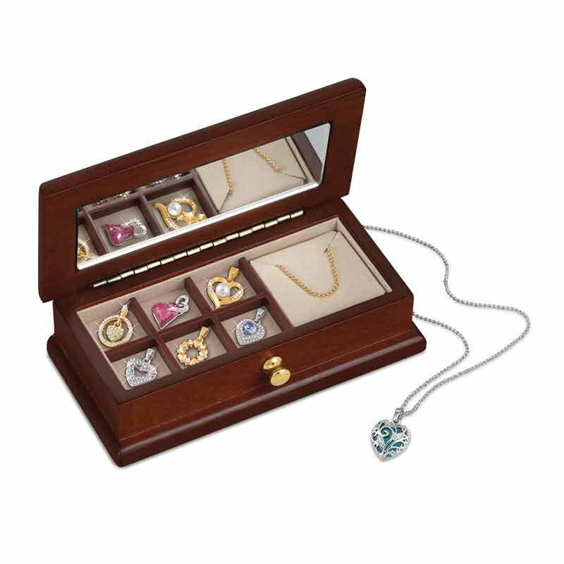 Treasures of the Heart Pendant  Jewelry Box Set 2169 001 1 1