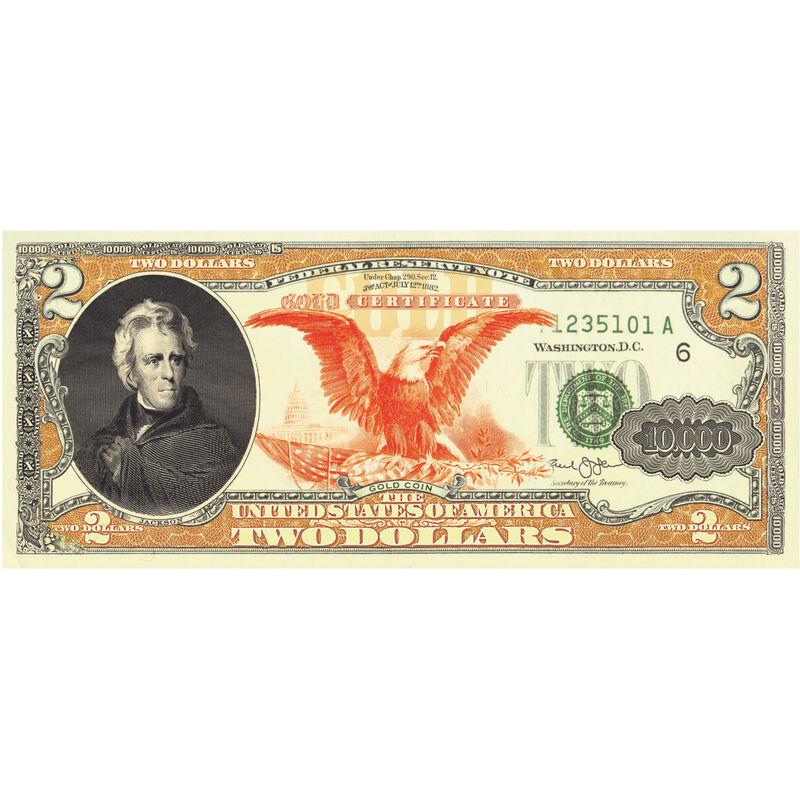 1882 Gold Cert Enhanced $2 Bills 10449 0016 b 10000 bill