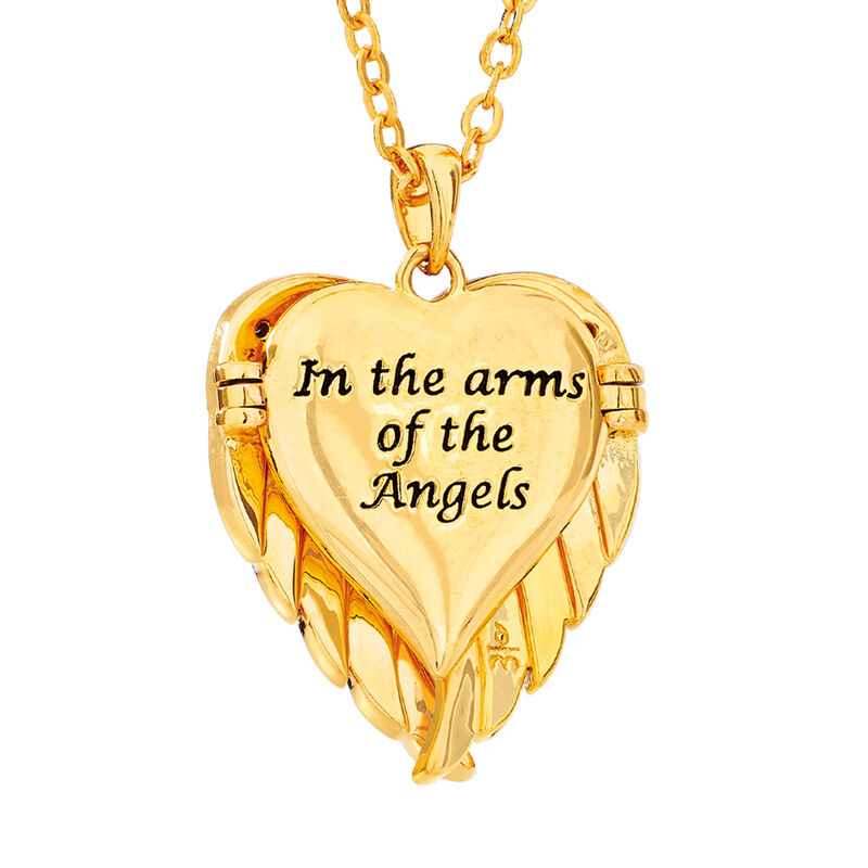 In the Arms of the Angels Personalized Locket 10010 0015 c back