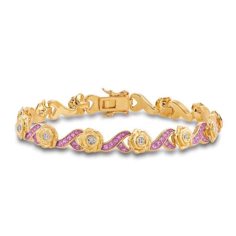 A Dozen Roses Birthstone  Diamond Bracelet 6684 001 8 5