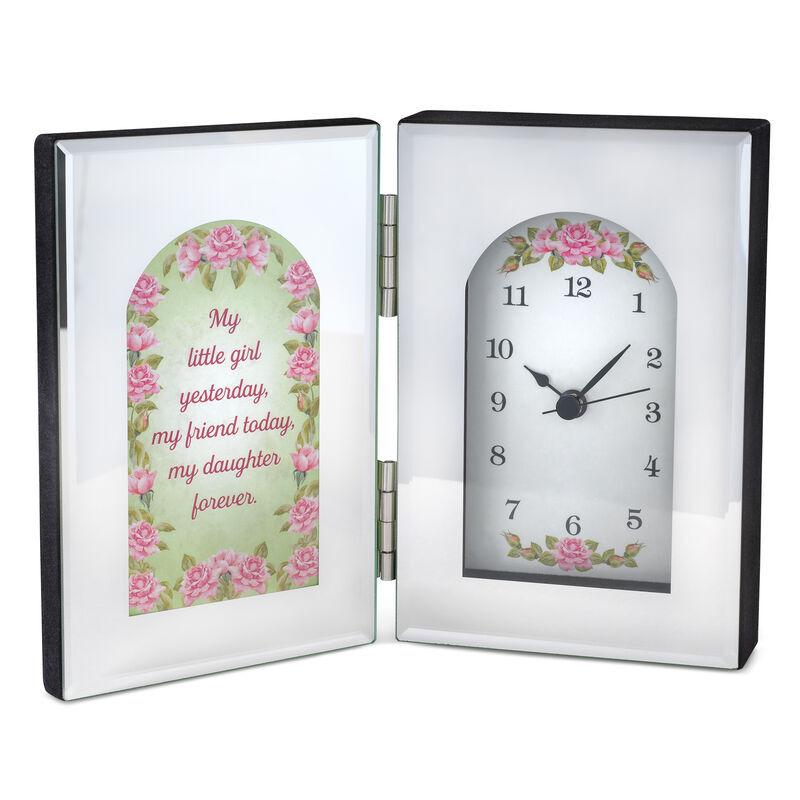 My Daughter Forever Mirror Desk Clock 6481 001 3 1