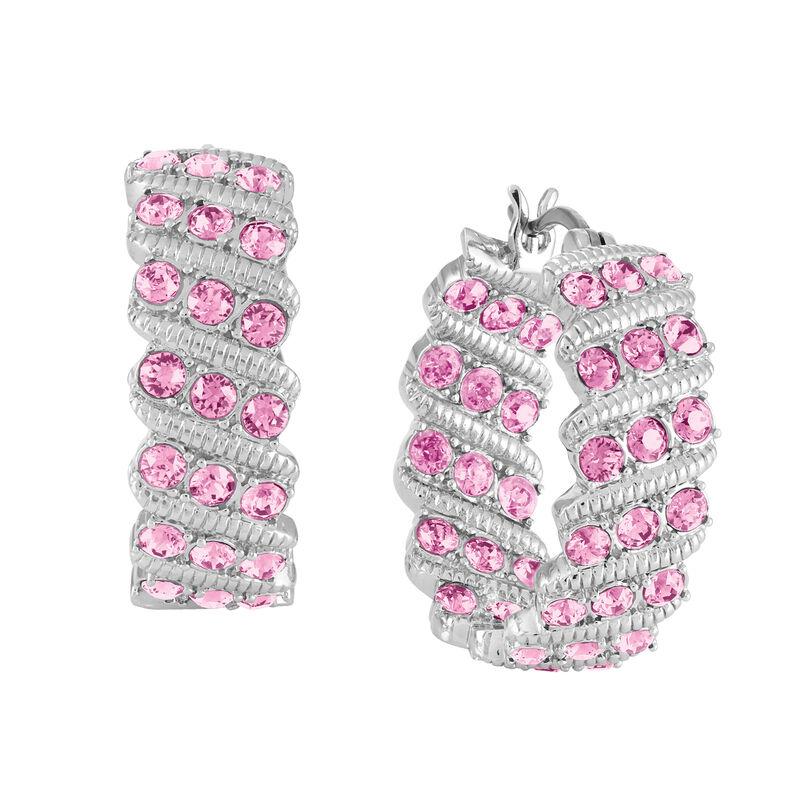Birthstone Hoop Earrings 6003 0020 j october
