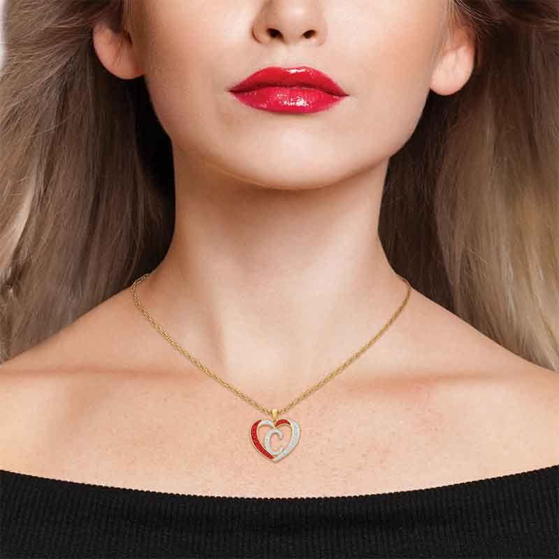 Personalized Diamond Initial Heart Set 2300 005 2 5
