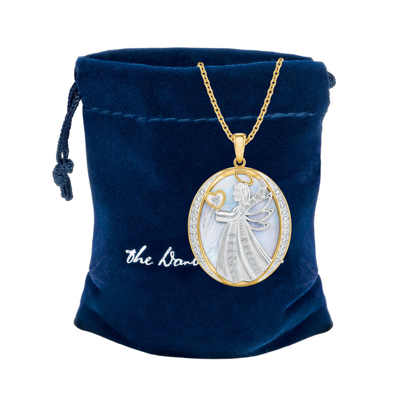 Guardian Angel Diamond Pendant 10114 0010 g gift pouch