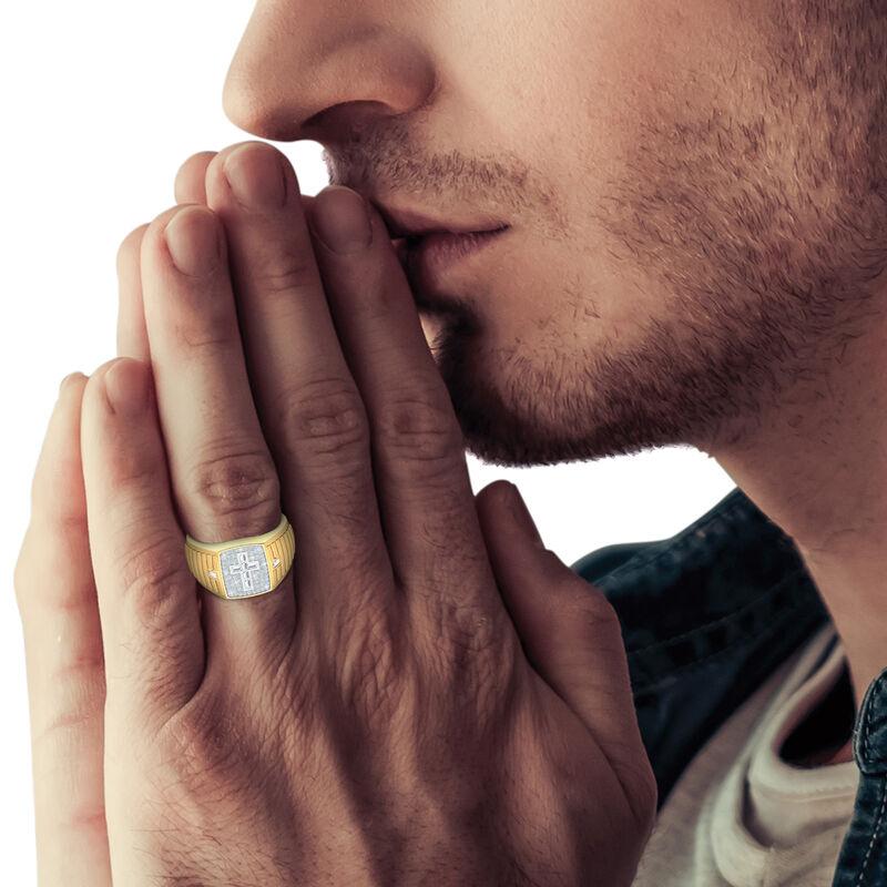Believe Baguette Diamond Mens Ring 10456 0016 m model