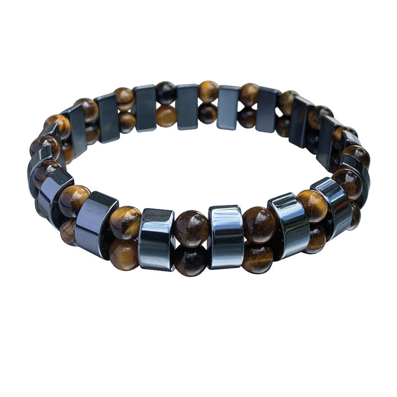 Infinite Style Mens Bracelet Collection 6693 0017 d brown silver