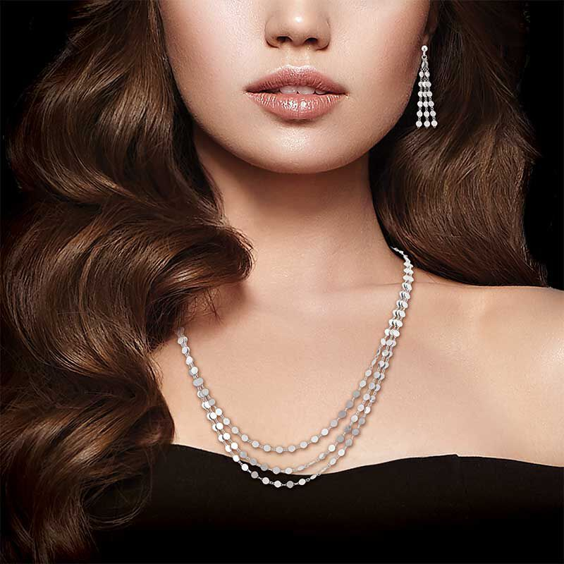 Stunning in Sterling Silver Pendant and Earring Set 6491 001 1 5