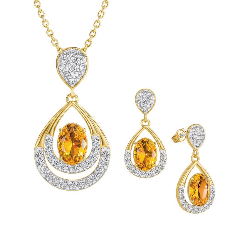 Birthstone Necklace Earring Set 6930 0010 k november
