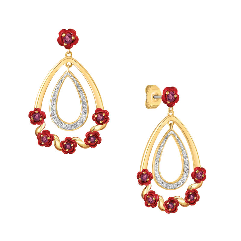 A Dozen Rubies Diamond Earrings 6270 0026 a main