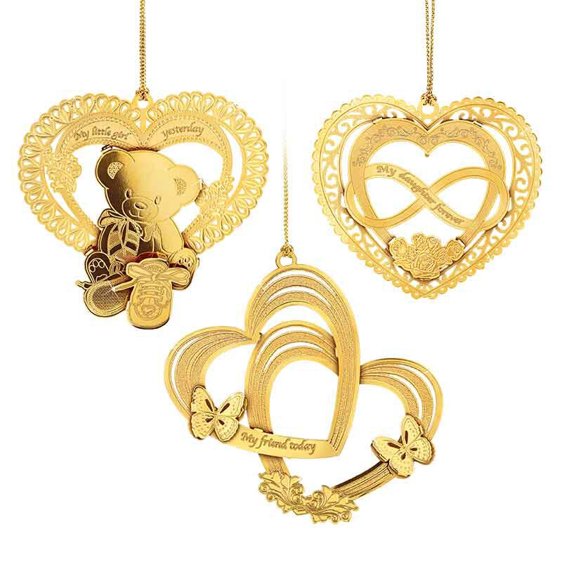 My Daughter Forever Gold Ornament Set 2279 001 8 1