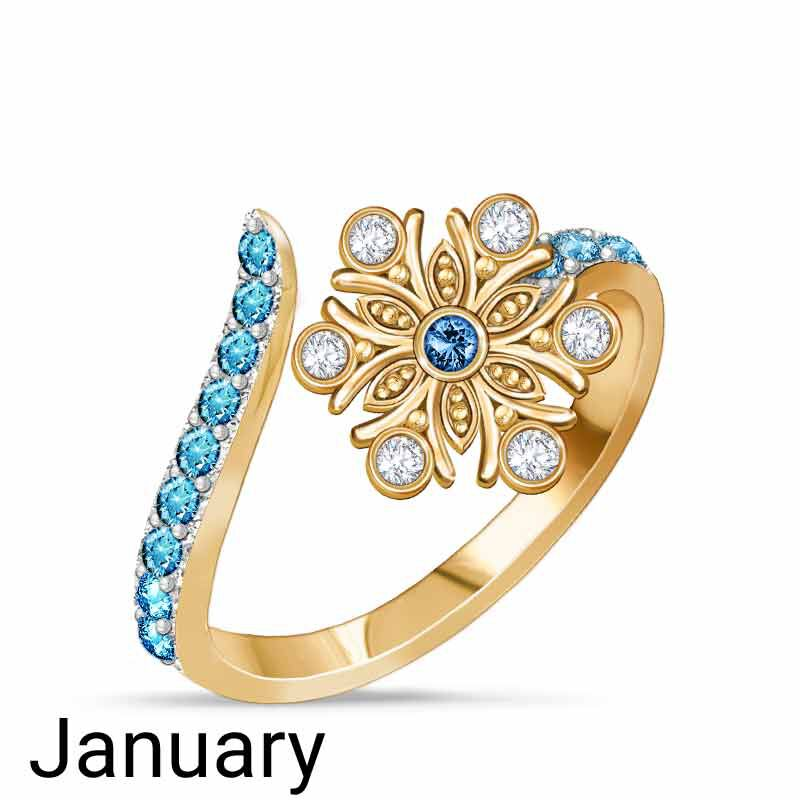 A Colorful Year Crystal Rings   Sizes 5 8 6115 003 3 1