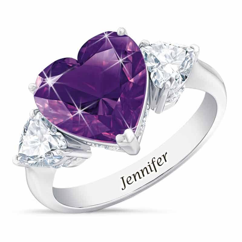 Birthstone Triple Heart Ring 1516 001 3 2