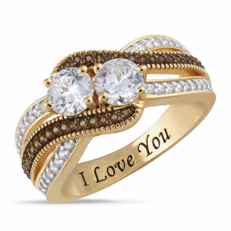 You  Me Eternally Two Stone Ring 2261 001 8 1