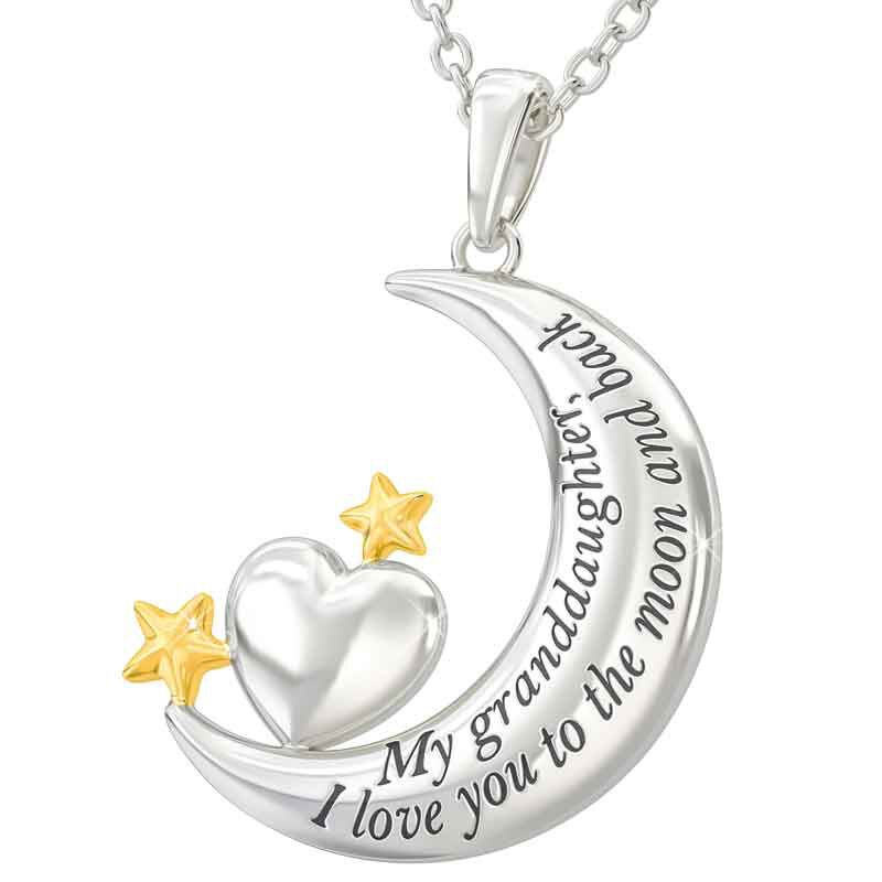 My Granddaughter I Love You to the Moon and Back Pendant 4507 002 6 2