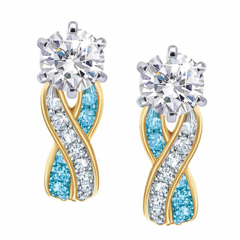 Birthstone Swirl Earrings 5361 014 3 12