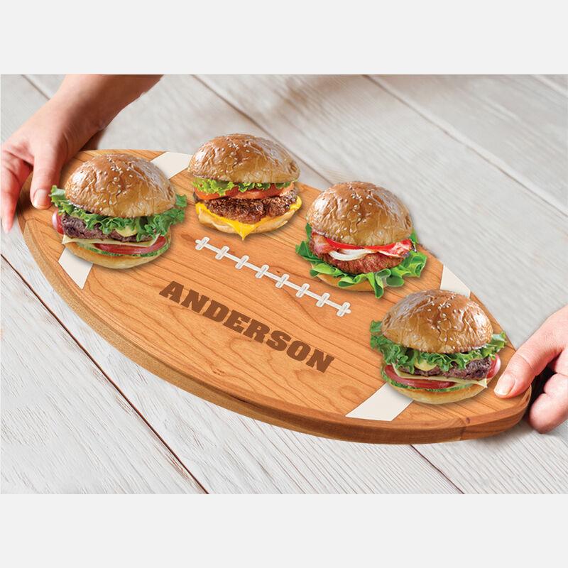 The Personalized Football Serving Board 5610 0027 e serve