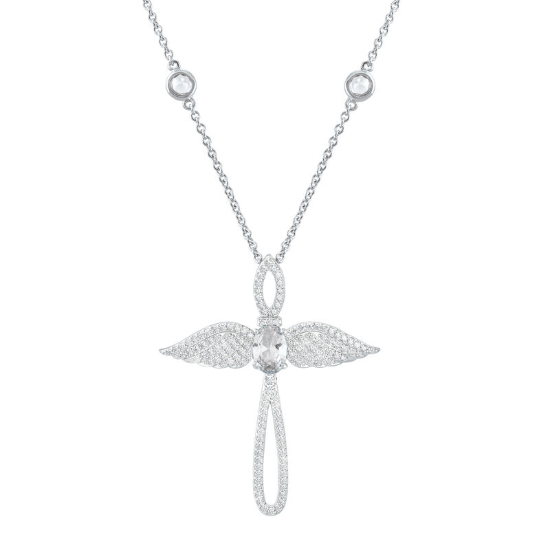 Touched by an Angel Birthstone Necklace 6842 0017 d april