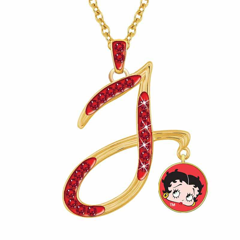 Personalized Betty Boop Initial Necklace 6047 001 0 1