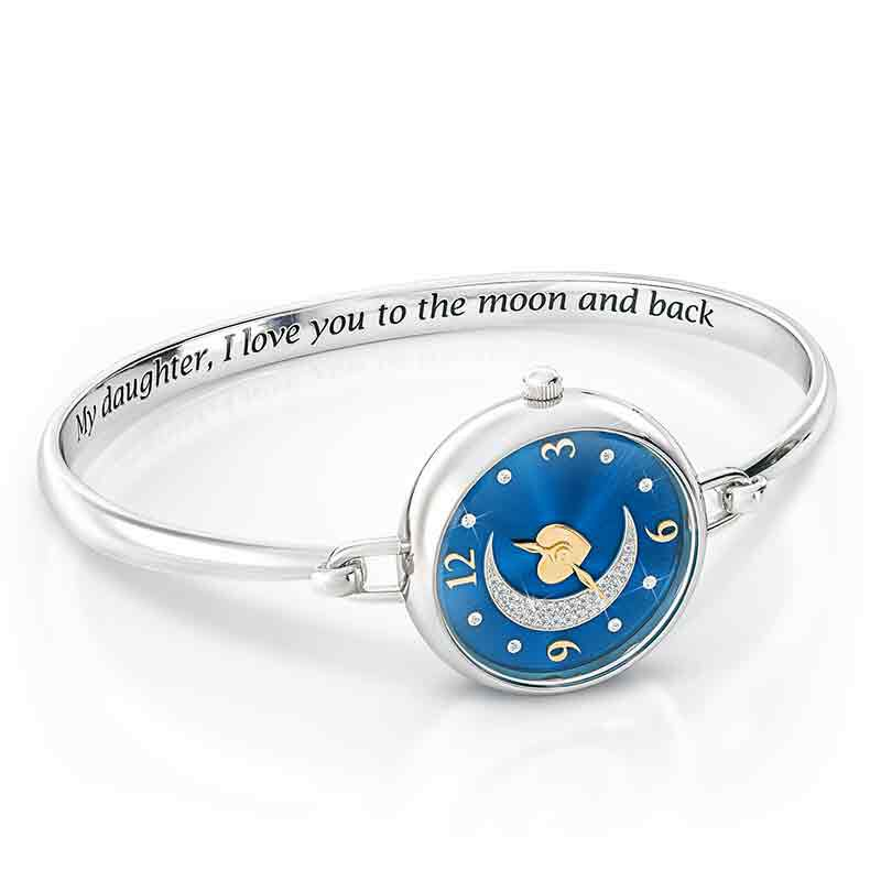 My Daughter I Love You to the Moon and Back Crystal Watch 2405 001 5 2