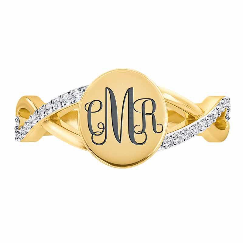 Personalized Diamond Signet Ring 6021 001 0 2