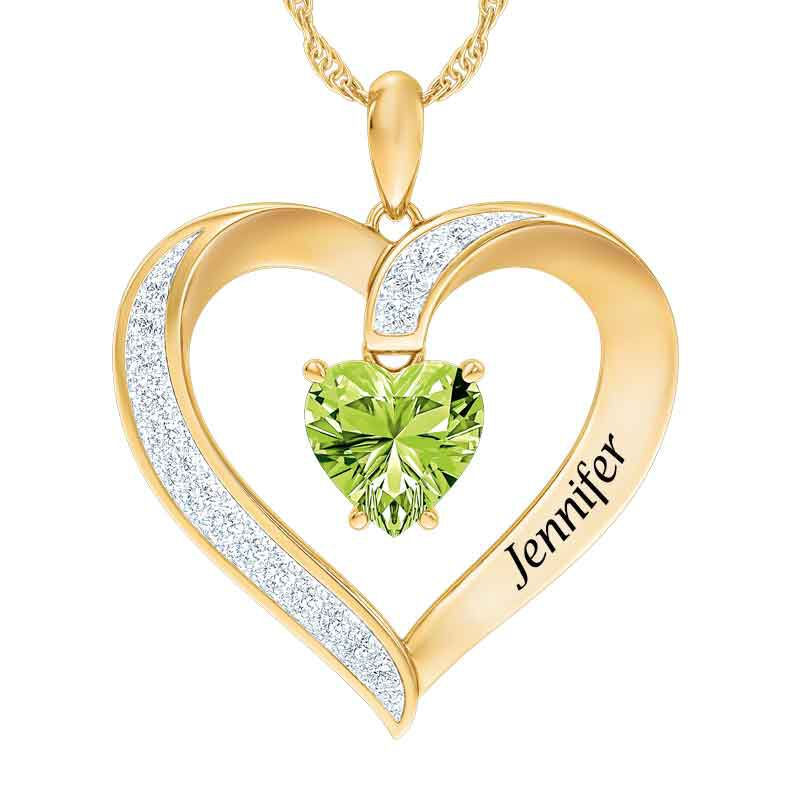 Personalized Birthstone Heart Pendant 5447 001 8 8
