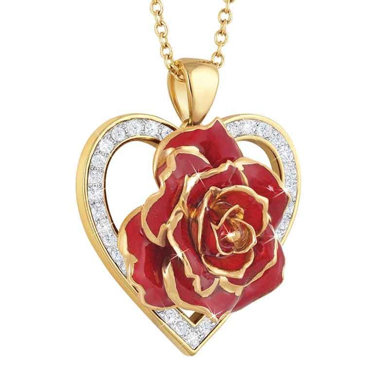 True Love Genuine Rose Heart Pendant 2249 001 5 2