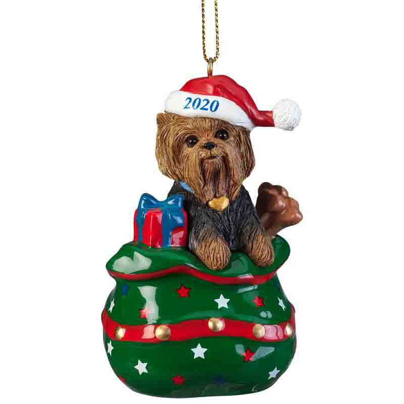 The 2020 Yorkie Long haired Ornament 6428 020 9 1