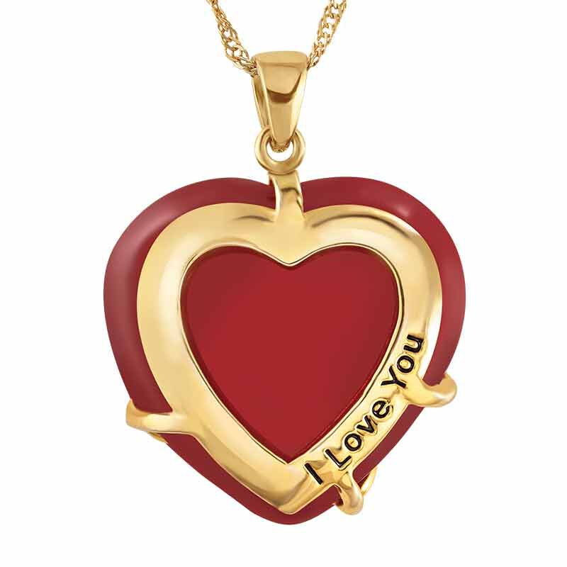 Love Everlasting Jade and Diamond Heart Pendant 6028 001 3 2